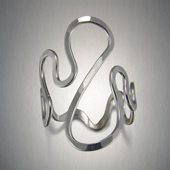 1201A - Squiggle Ring - Sterling Silver