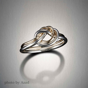 1218CO - Best Friends Ring - Mixed Metal
