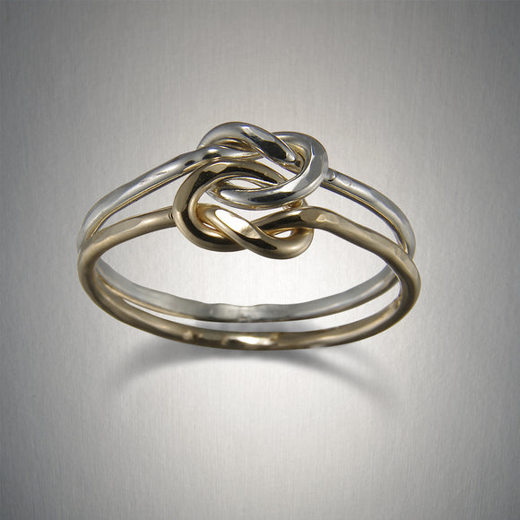 1220CO - Knot in Knot Ring - Mixed Metal