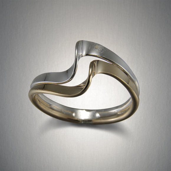 124CO - Waves Ring - Mixed Metal