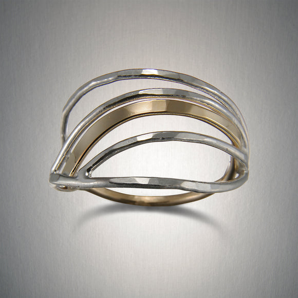 1363CO - Tidal Ring - Mixed Metal