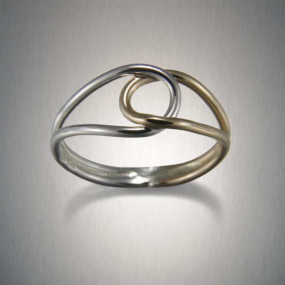 1993CO - Interlocked Loops Ring - Mixed Metal