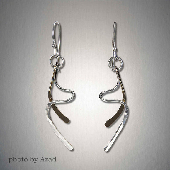 2024CO - Dangling Squiggle Earring - Mixed Metal