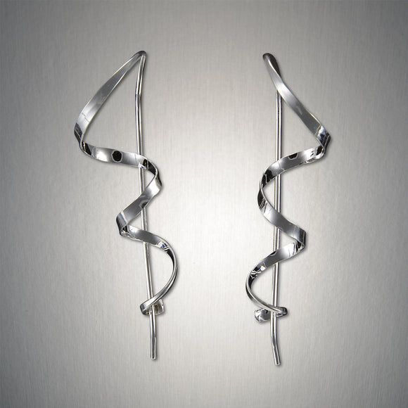 2045 - Minimalist Threader - Corkscrew - Sterling Silver