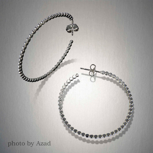 2075L - Post - Hoop Dots - Sterling Silver