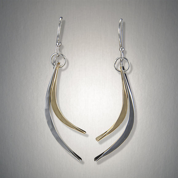 2108SCO - Dangling Double Curves - Mixed Metal