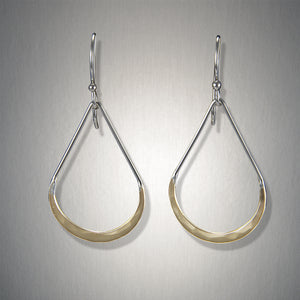 2113SCO - Dangling Small Tear Drops - Mixed Metal