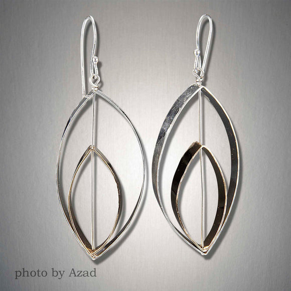 2175CO - Dangling Double Ellipse - Mixed Metal