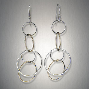 2233CO - Dangling Triple Circles - Mixed Metal