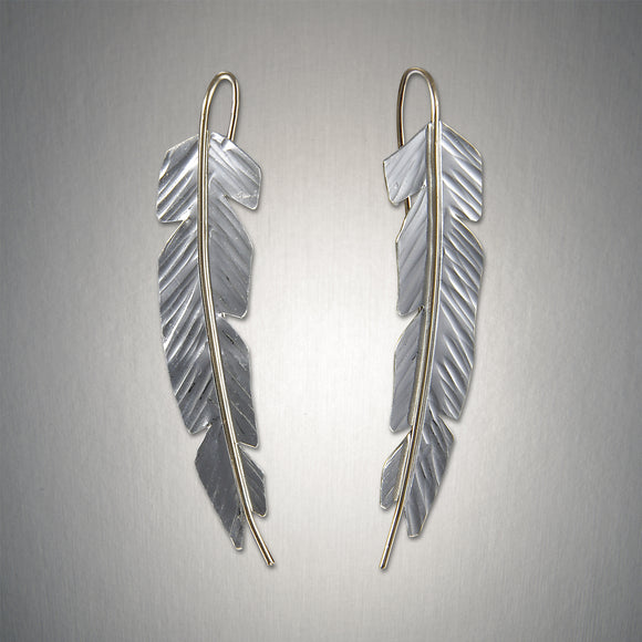 2915SCO - Small Feather - Mixed Metal