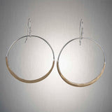 2999LCO - Dangling Large Circles - Mixed Metal