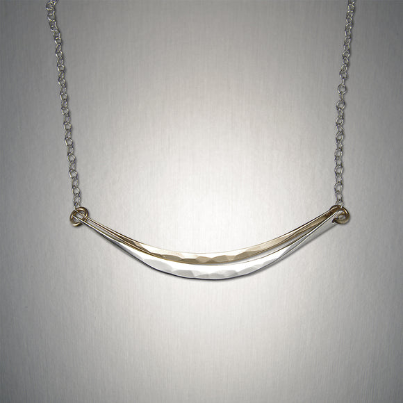 3108CO - Open Smile Chain - Mixed Metal