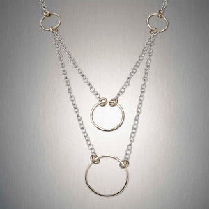 3193CO - Four Circles Chain - Mixed Metal