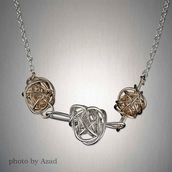 3901CO - Tangled Web Trio Chain - Mixed Metal
