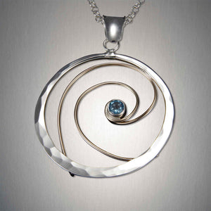 4099CO+BT - Eye of the Storm Pendant - Mixed Metal