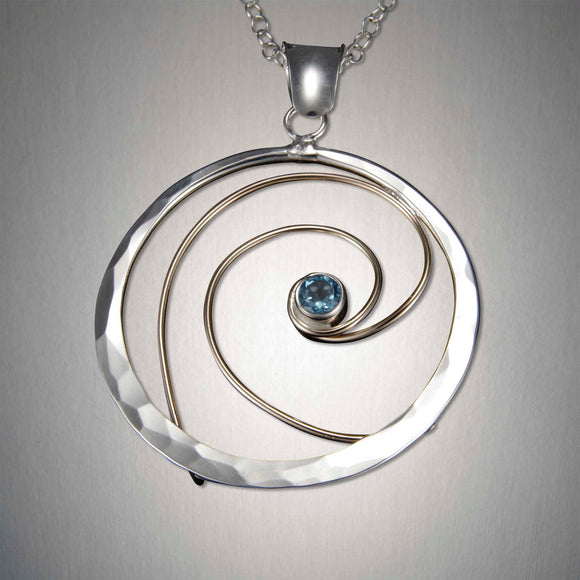 4099CO+ Eye of the Storm Pendant - Mixed Metal