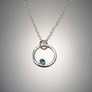 4300S+BT - Small Circle Pendant - Mixed Metal