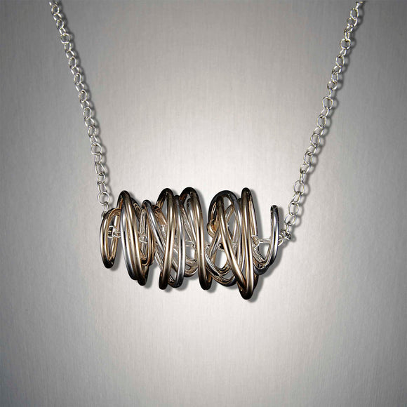 4890CO - The Twister Pendant - Mixed Metal