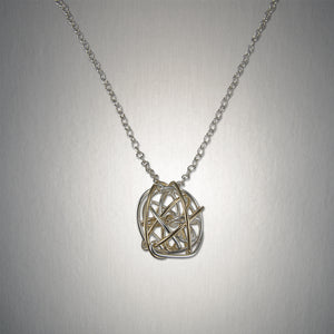 4900CO - Tangled Web Pendant - Mixed Metal