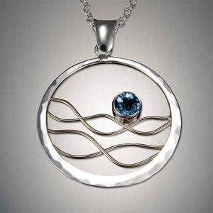 4964CO+ BT - Earth's Tides Pendant - Mixed Metal