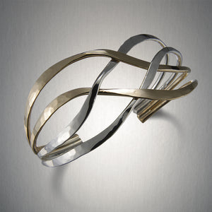7882CO - Woven Cuff - Mixed Metal