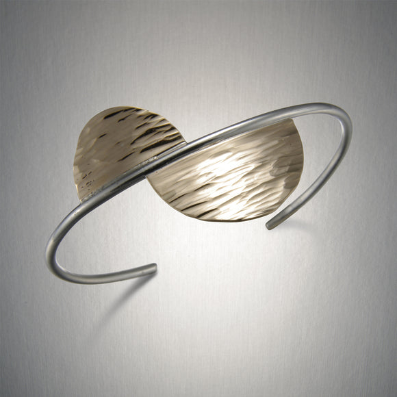 8165CO - Offset Semicircle Cuff - Mixed Metal