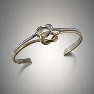 8220CO - Knot in Knot Cuff - Mixed Metal