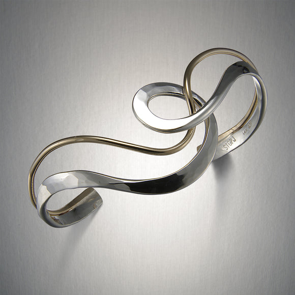 8280CO - Through the Loop Cuff - Mixed Metal