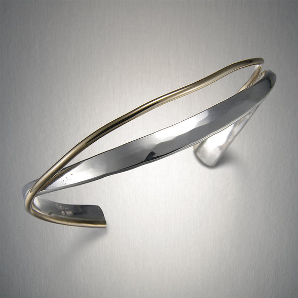 8732CO - Entwined Cuff - Mixed Metal