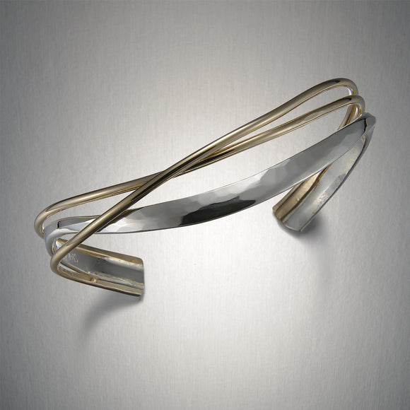 8733CO - Mixed Metal Double Entwined Cuff