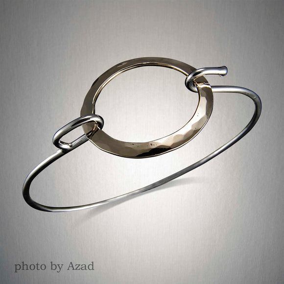 8750CO - Mixed Metal Circle Connect Cuff