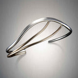 8753CO - Mixed Metal Rippling Cuff