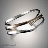 C230CO - Mixed Metal Three Striped Cuff