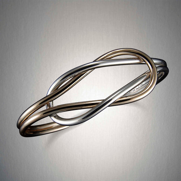 C37CO - Mixed Metal Reef Knot Cuff
