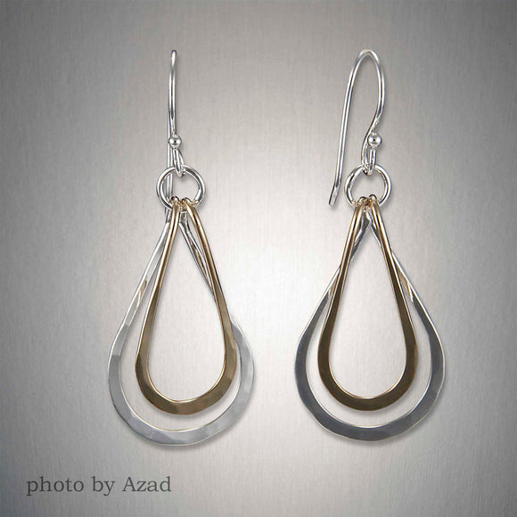 E682SCO - Dangling Teardrops - Mixed Metal