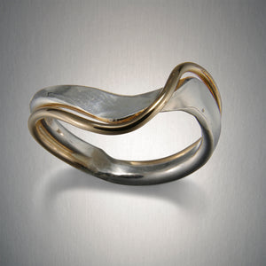R15CO - Waves Ring - Mixed Metal