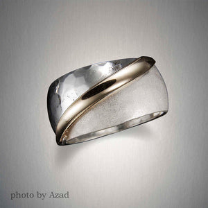 R177CO - Half and Half Ring - Mixed Metal