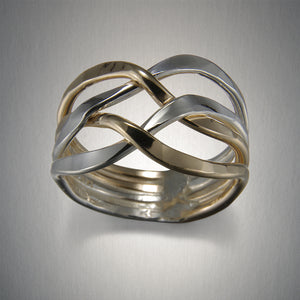 R882HCO - Woven Ring - Mixed Metal