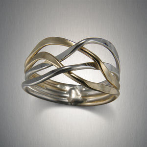 R882LCO - Woven Ring - Mixed Metal - Light
