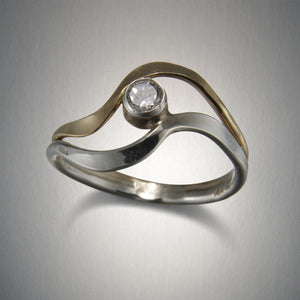 R88CO+ Romancing the Stone Ring - Mixed Metal