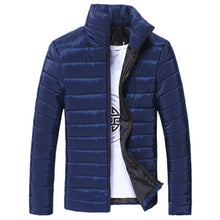 Load image into Gallery viewer, Men Cotton Stand Zipper Warm Winter Thick Coat Jacket