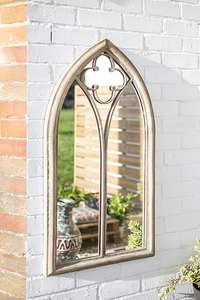 La Hacienda Outdoor Garden Church Style Mirror
