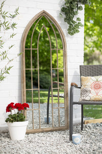 La Hacienda Large Arched Stone Effect Mirror