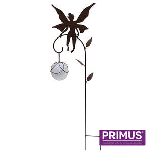 Solar Metal Hovering Fairy Stake - Black