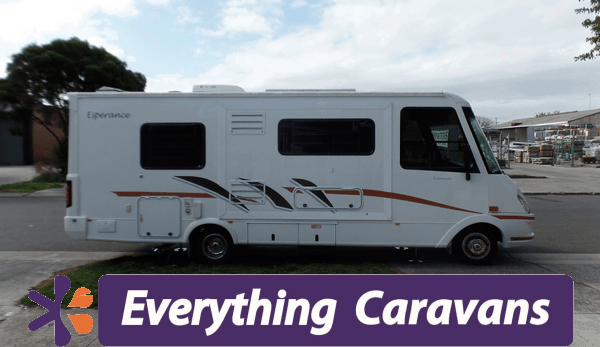 "Leveling legs on ""A Class"" Motorhome - Titan Redfoot Leveling System - Everything Caravans"