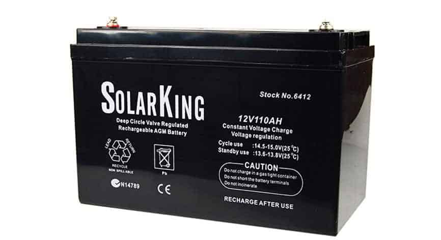 12 Volt 110 amp AGM Deep Cycle battery for caravan solar motorhome off grid Everything Caravans