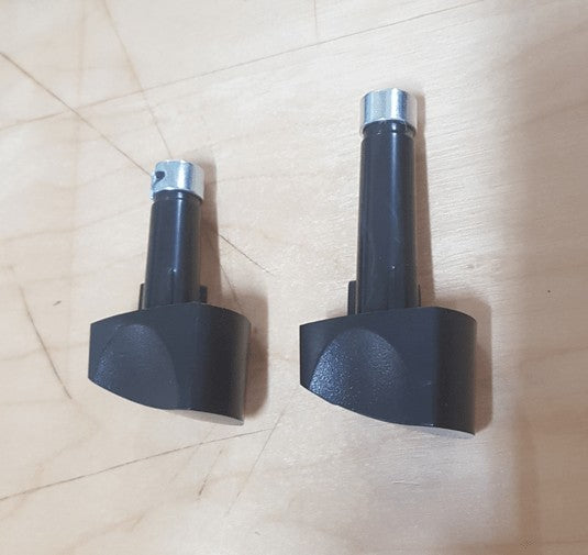 2 x  Knobs for RM2350 3 Way Fridge Selector and Thermostat - Black Dometic