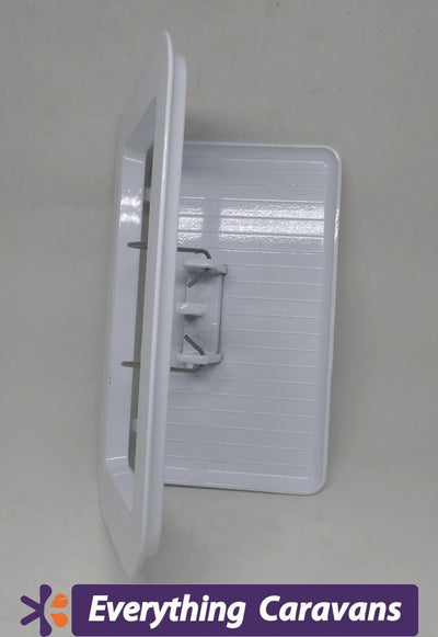 2 x  Large Scupper Vent White - Alloy Everything Caravans
