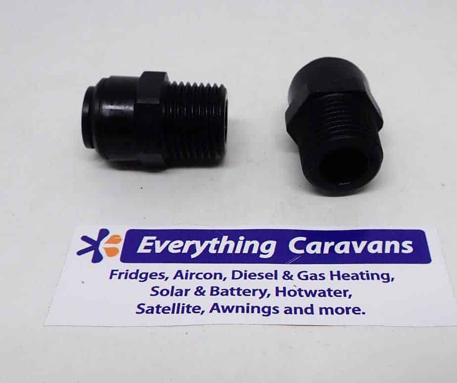 2 x John Guest Caravan fittings 12mm x 1-2 male water adaptor John Guest
