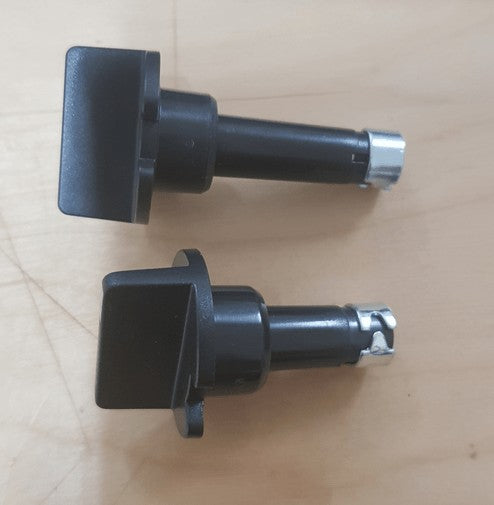 2 x Knobs for RM2453 RM2553 3 Way Fridge Thermostat and Selector - Black Dometic